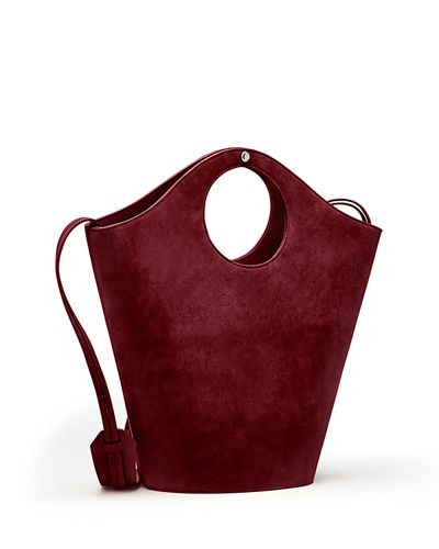Market Suede Shopper Tote Bag