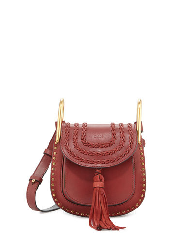 Hudson Small Leather Saddle Bag