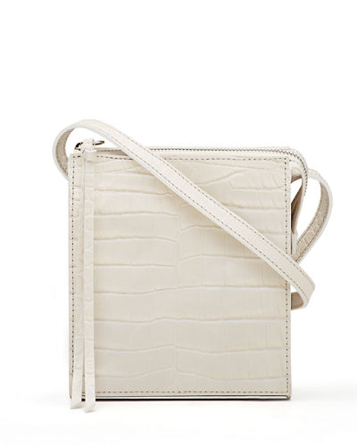Sara Suede Zip Tassel Crossbody Bag
