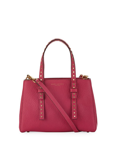 Mini T Stud Pebbled Tote Bag