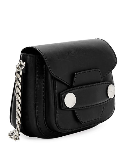 Popper Mini Faux-Leather Shoulder Bag