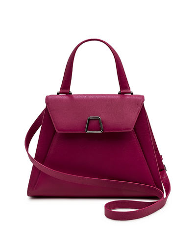 Alba Structured Leather Top-Handle Bag