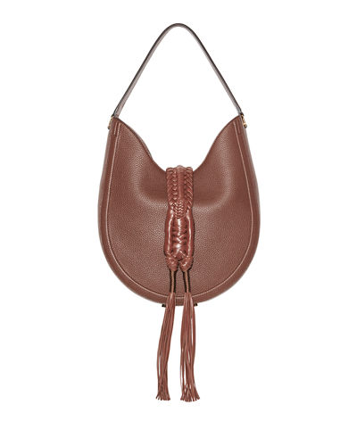 Ghianda Woven Leather Hobo Bag