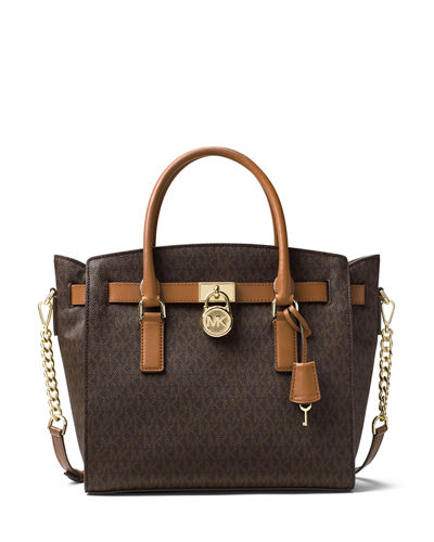 Hamilton Large Logo-Print Satchel Bag