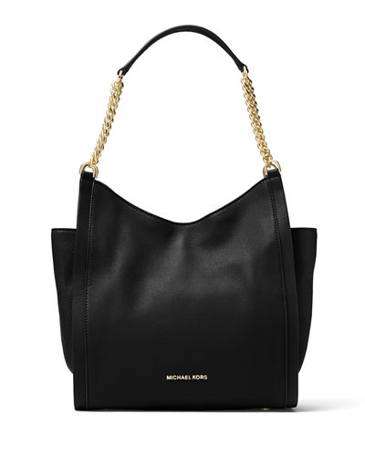 Newbury Medium Leather Chain Shoulder Tote Bag