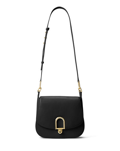 Delfina Large Leather Saddle Bag
