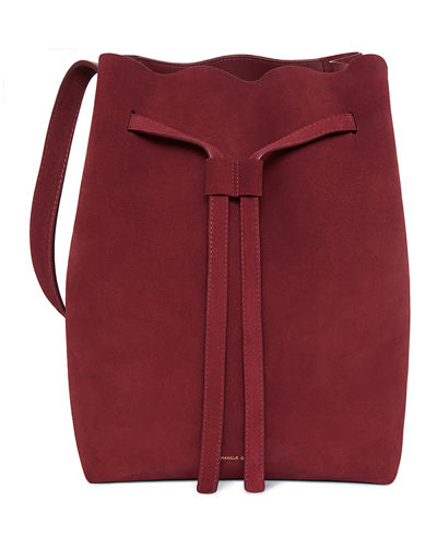 Drawstring Suede Hobo Bag