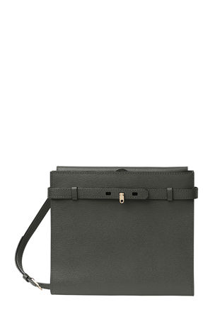 Valextra B-Tracollina Leather Shoulder Bag