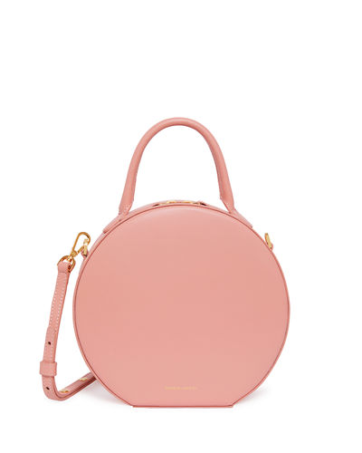 Leather Circle Crossbody Bag