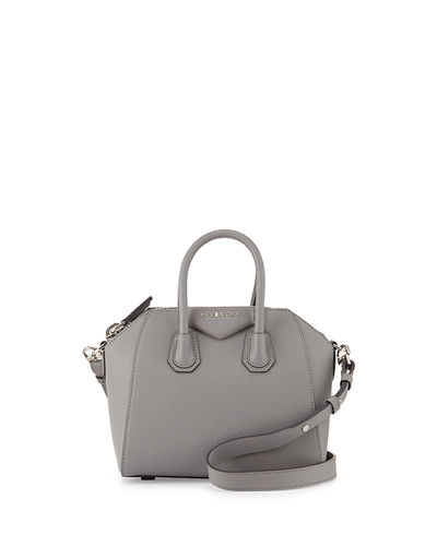 Antigona Mini Leather Satchel Bag