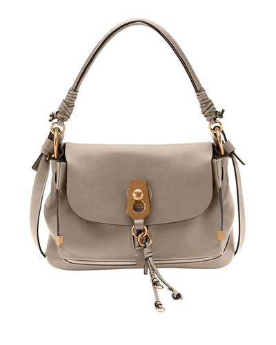 Owen Medium Leather Flap-Top Bag