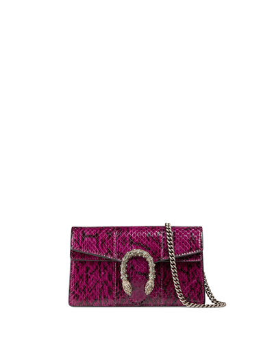 Dionysus Snakeskin Super Mini Bag
