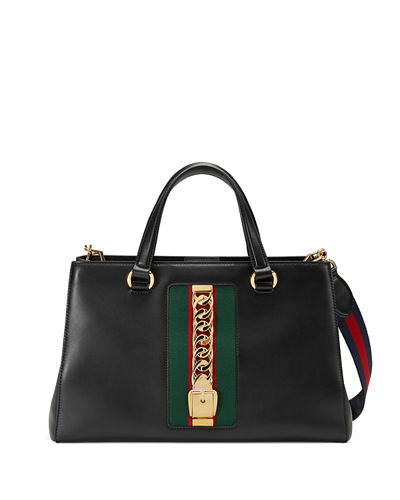Gucci Sylvie Large Leather Tote Bag