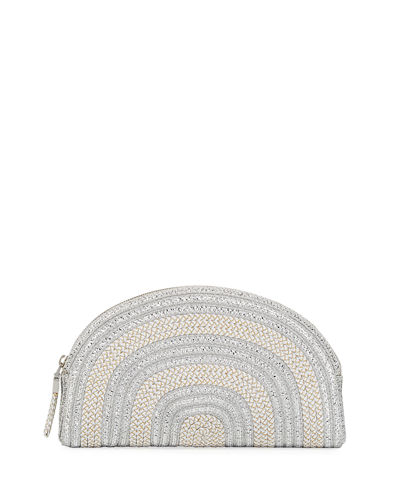 Croissant Metallic Clutch Bag