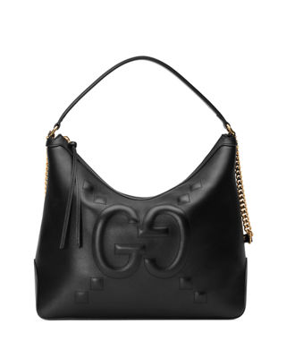 Gucci Original Large Leather Embossed GG Hobo Bag | Neiman Marcus