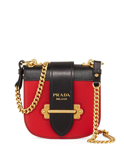 Prada Mini Leather Crossbody Bag