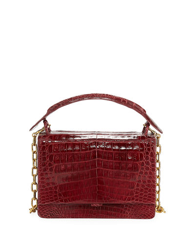 Medium Crocodile Top-Handle Bag