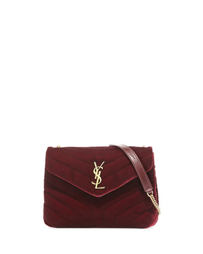 LouLou Monogram Small Velvet Shoulder Bag