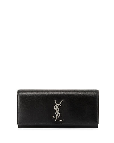 Saint Laurent Kate Monogram Grain de Poudre Clutch
