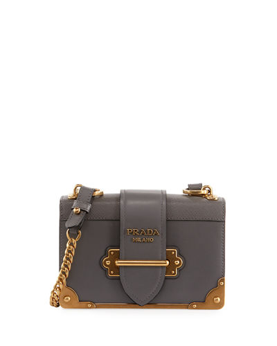 Cahier Small Leather Trunk Crossbody Bag