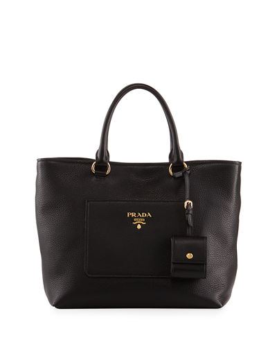 Prada Large Vitello Daino North-South Tote Bag