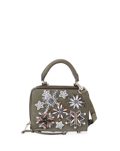 Jewel Box Leather Crossbody Bag
