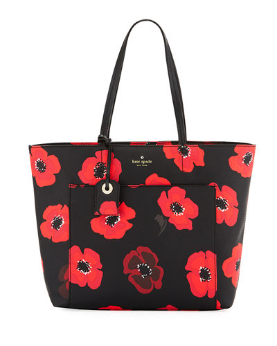 riley hyde lane poppy-print tote bag