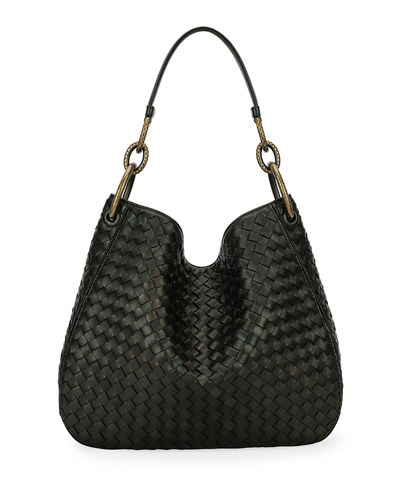 Loop Intrecciato Woven Shoulder Bag