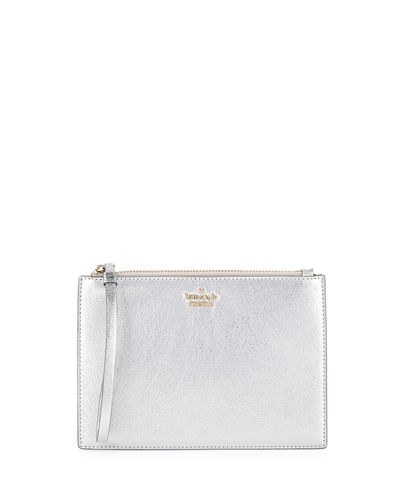 highland drive metallic pouch wristlet bag