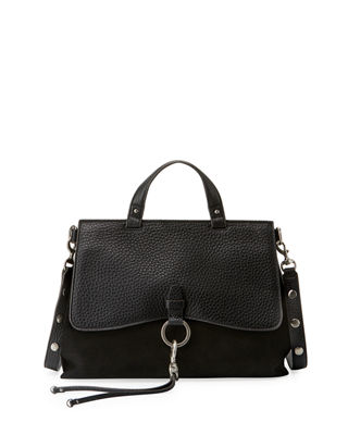 Black Suede Satchel Bag | Neiman Marcus