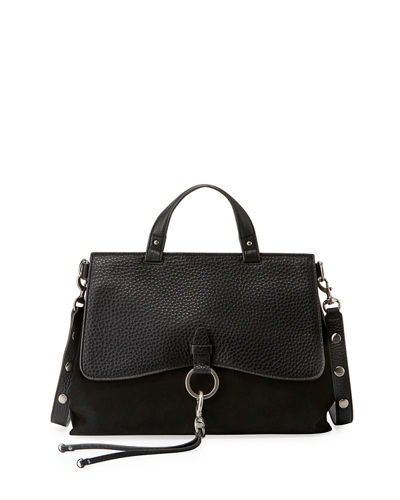Keith Ring and Clip Leather Satchel Bag