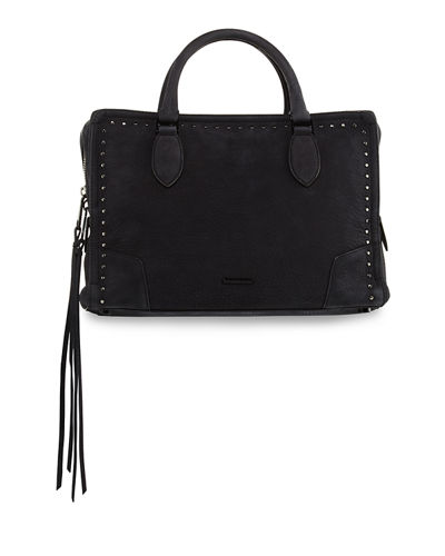 Moonwalking Studded Satchel Bag