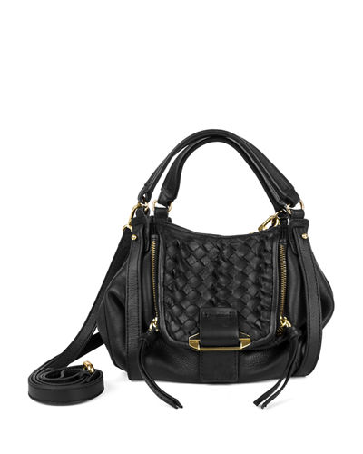 Jonnie Mini Woven Crossbody Bag