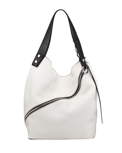 Medium Grain Leather Hobo Bag