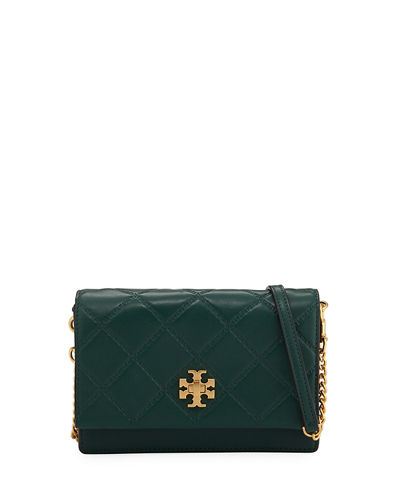 Tory Burch Georgia Mini Diamond-Quilted Crossbody Bag