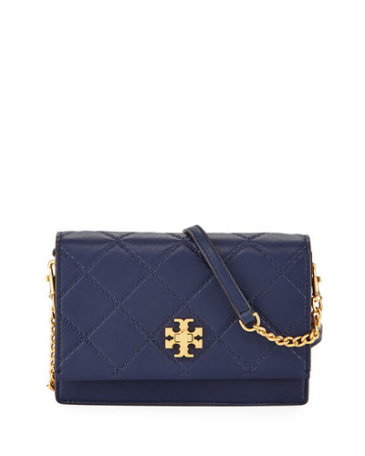 Georgia Mini Diamond-Quilted Crossbody Bag