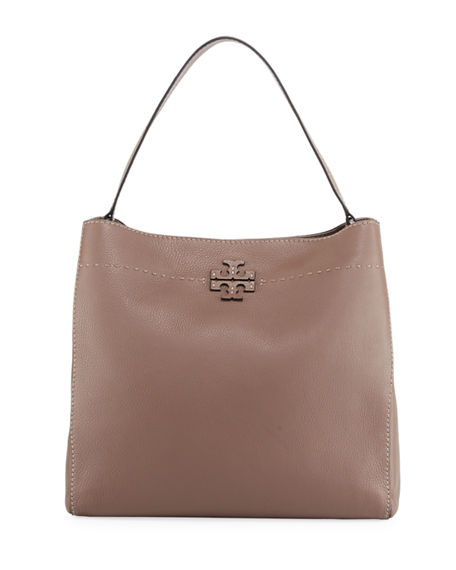 Tory Burch McGraw Pebbled Leather Hobo Bag | Neiman Marcus