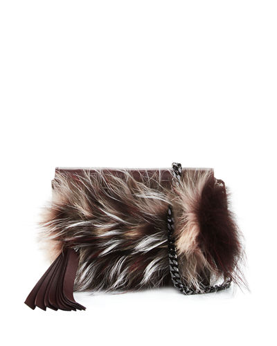 Elena Ghisellini Nina Mini Crazy Fur Clutch Bag