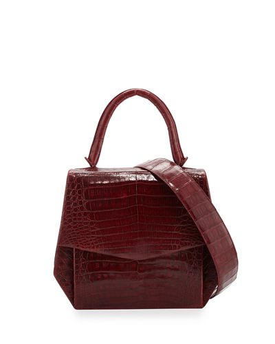 Crocodile Medium Structured Top-Handle Bag