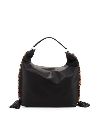 Chase Large Leather Hobo Bag