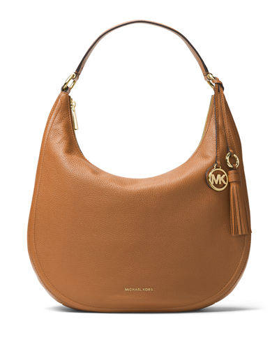 Lydia Large Leather Hobo Bag