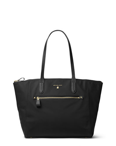 Kelsey Large Nylon Zip Tote Bag