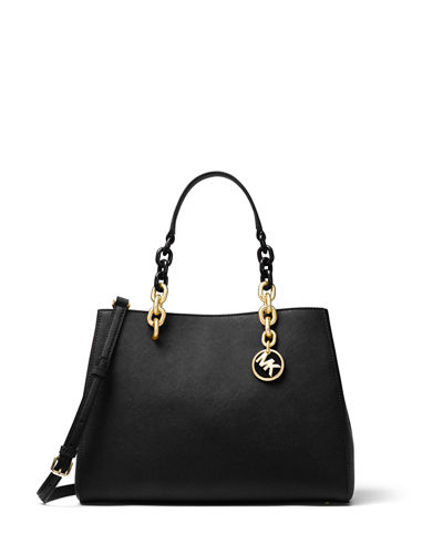 Cynthia Medium Saffiano Satchel Bag