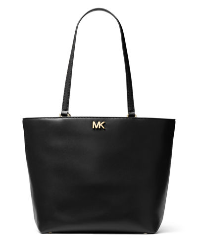 Mott Medium Leather Shoulder Tote Bag