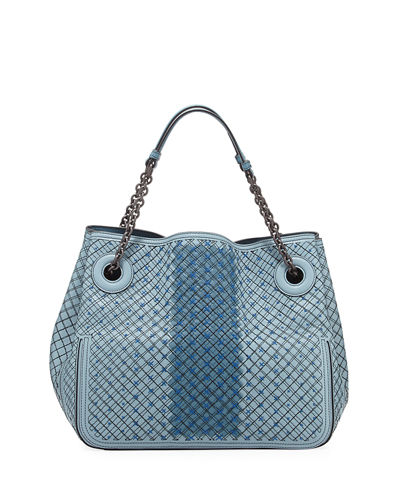 Bottega Veneta Large Leather Double Shoulder Bag
