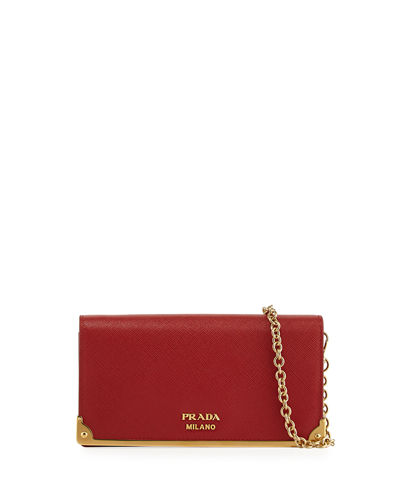 Saffiano Full Flap Metal Bar Mini Bag