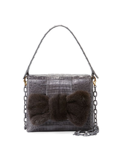 Small Mink Knot Crocodile Bag