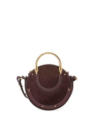 Pixie Small Round Double-Handle Shoulder Bag