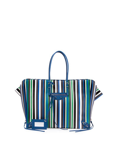 Papier B4 AJ Striped Zip-Around Tote Bag