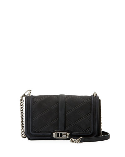 Love Quilted Nubuck Crossbody Bag